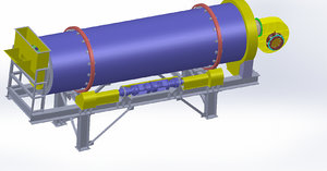 3D model asphalt plant dryer 160