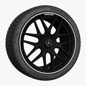 3D mercedes amg wheel 20