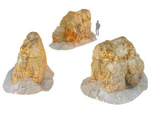 3D rocks 16k model