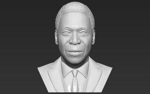 3D pele bust ready printing model