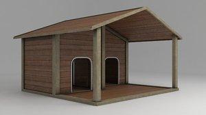 3D model doghouse shelter