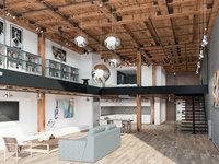 Loft interior scene  Home - Office - Warehouse