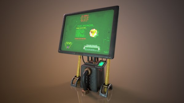 3D sci-fi cyberpunk terminal ordering