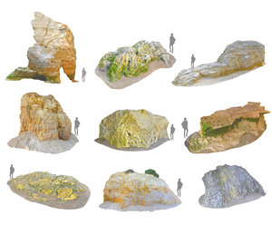 rock monument pack 8 3D model