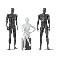 3D male female faceless mannequins