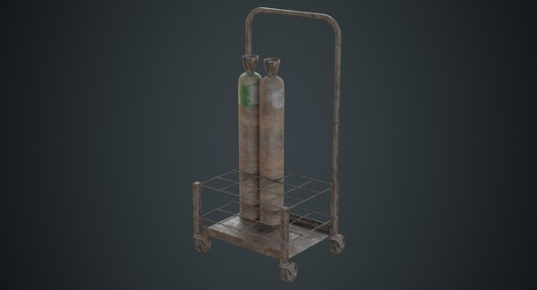 gas cylinder contains 3D model