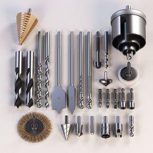 set drills 3D model