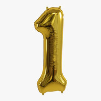 balloon foil gold 3D model