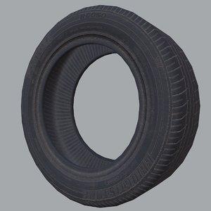 dirty tire 3D