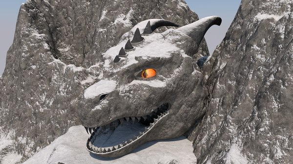 3D model mountain -