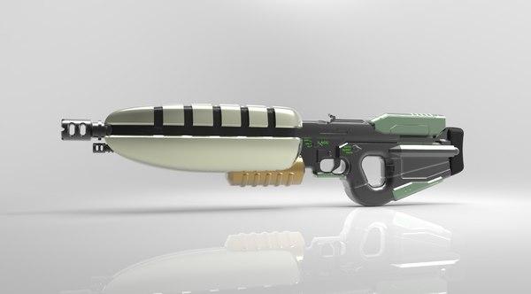 3D blaster gun bx-201 weapon model