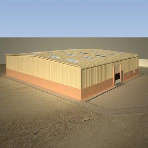 warehouse exterior model