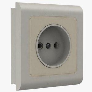 socket old 3D model