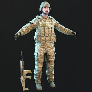 soldier 2019 3D model