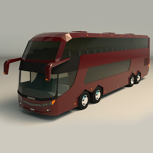 3D model coach bus o