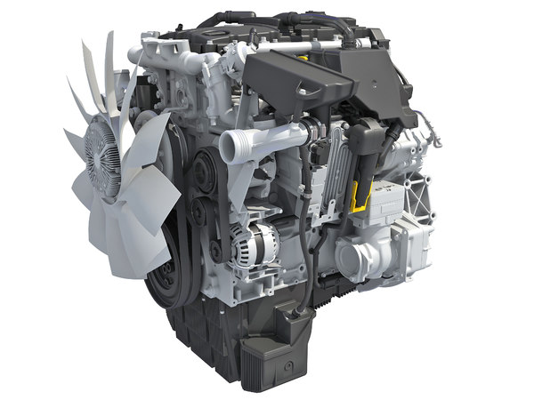 3D detroit dd5 diesel engine model