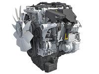 3D detroit dd5 diesel engine model