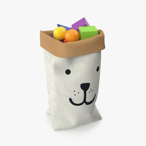 paper bag toys 3D model