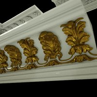 3D model patterned cornices 01