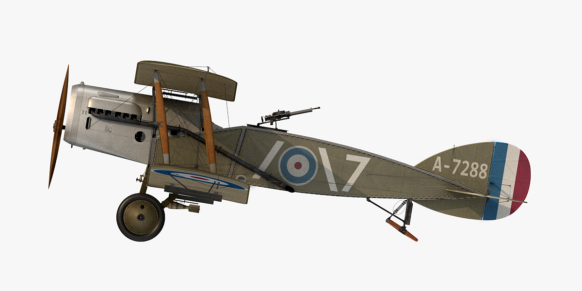 bristol f 2b fighter aircraft 3D model