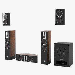 3D home cineama speakers set