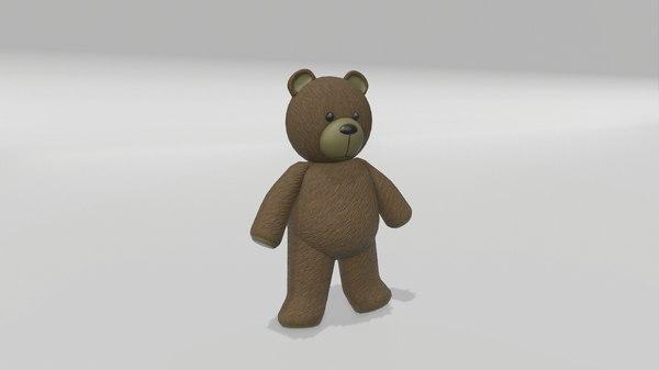 stuffed teddy bear 3D model