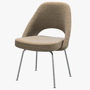 3D knoll saarinen executive sidechair