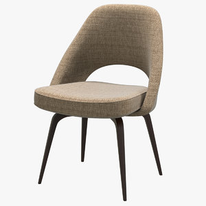 3D knoll saarinen executive sidechair model