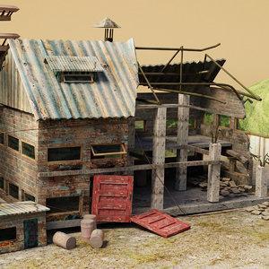 3D model abandoned
