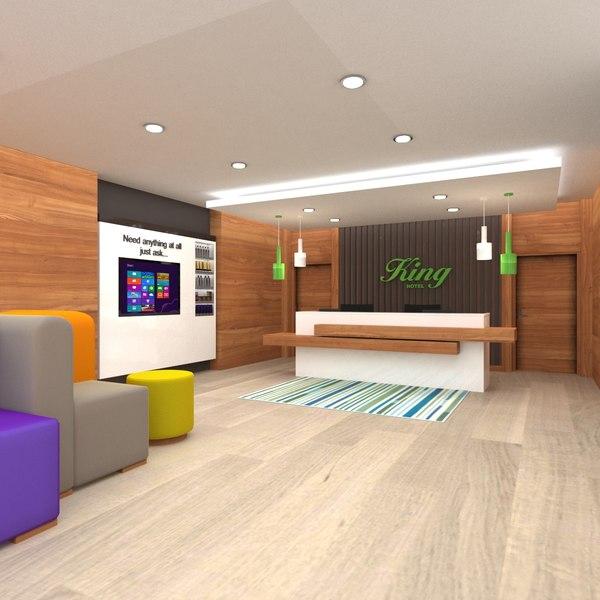 hotel lobby 3D