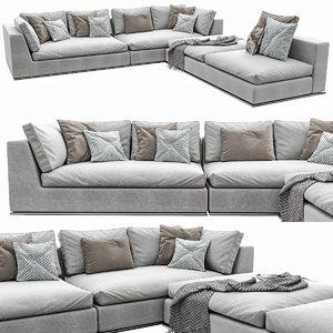 3D hamilton sofa