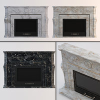 3D classic fireplaces