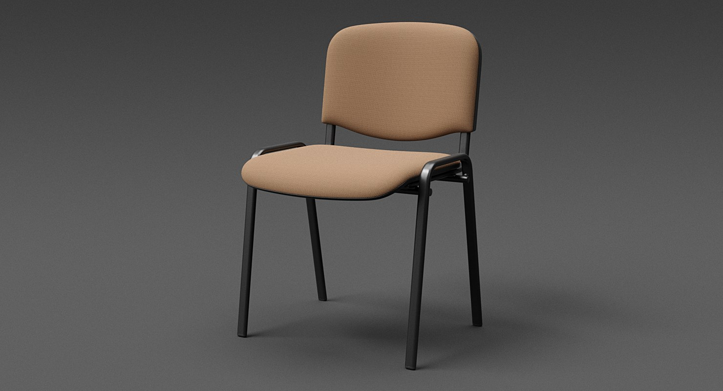 3D realistic conference chair