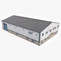 ready industrial building 17 3D model