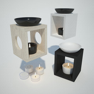 oil burner zen 3D model