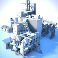 generic white factory 3D model