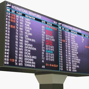 airport departures 3D model