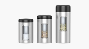 3D kitchen containers