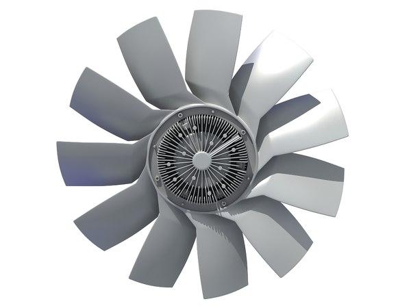 car engine cooling fan 3D model