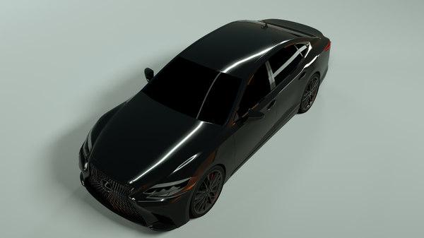 3D realistic lexus ls 500