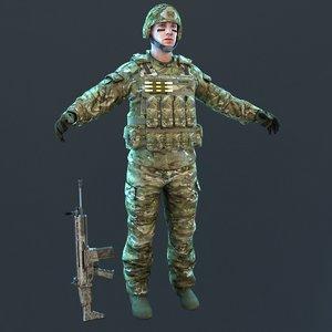 3D soldier 2019