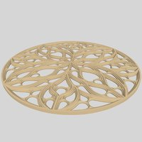 3D rose window model