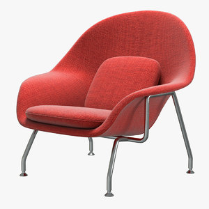 knoll saarinen womb chair 3D