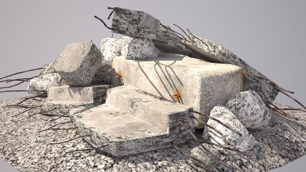 3D construction garbage model