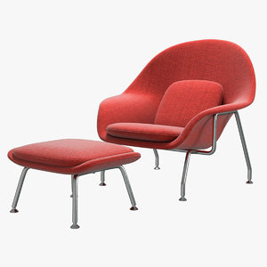 knoll saarinen womb chair 3D model