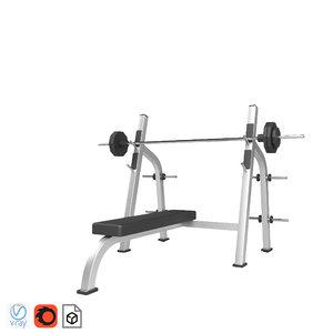 3D fitness gym model