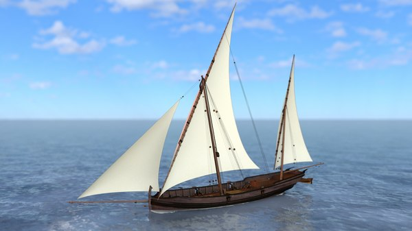 3D model san juan caravel felucca