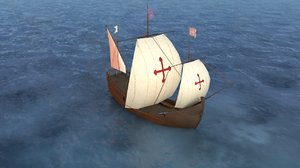 spanish ship caravel pinta 3D model