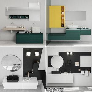 3D bathroom furniture 6 model