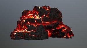lava rock 3D
